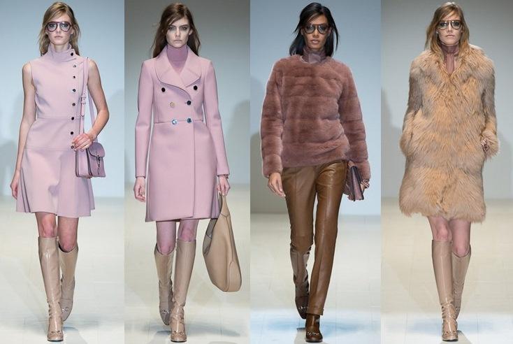 6c5f3b889 A Gucci abre a temporada Outono-Inverno 2014 da semana de moda de Milão num  desfile com ar retrô e estruturas que lembram os anos 60.