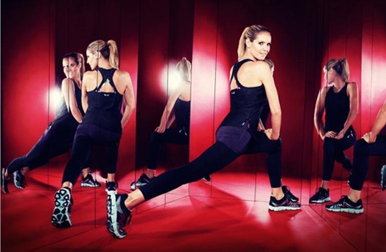 258bf8dee A super top model Heidi Klum já faz algumas parcerias com a New Balance há  algum tempo