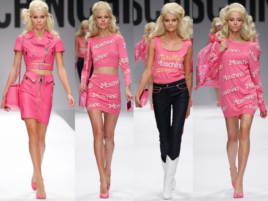 db40412fbbeba Dessa vez o ícone americano usado por Jeremy Scott para o desfile de Verão  2015 de Moschino foi a Barbie! e entre os looks apresentados