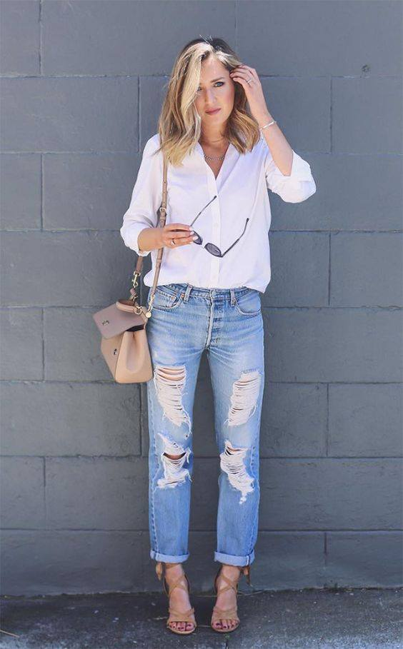 Destroyed Jeans imagem - via pinterest