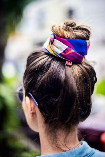 Lenços no cabelo para arrasar no look! imagem via pinterest