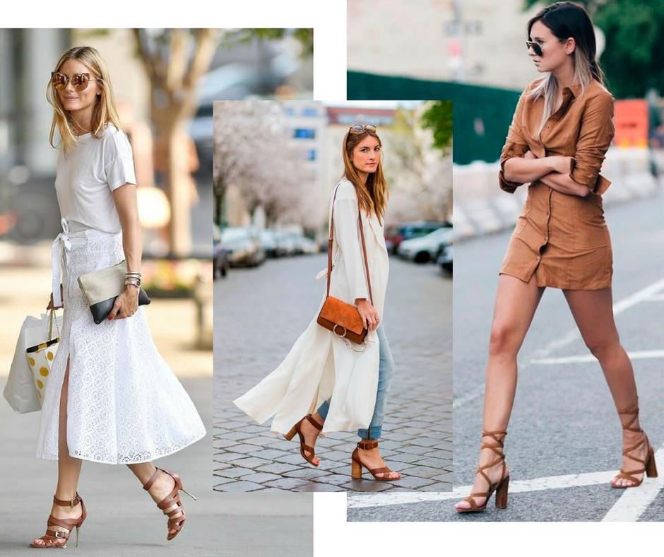 As sandálias beges e naturais são um curinga eterno do closet imagem - via pinterest / montagem Buyer & Brand