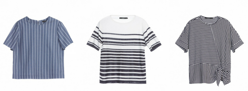 1- Top Stripes - 4 x $32,48 - AQUI / 2- Camiseta Tricot - 5 x $31,98 - AQUI / 3- Camiseta nó - 3 x $36,63 - AQUI