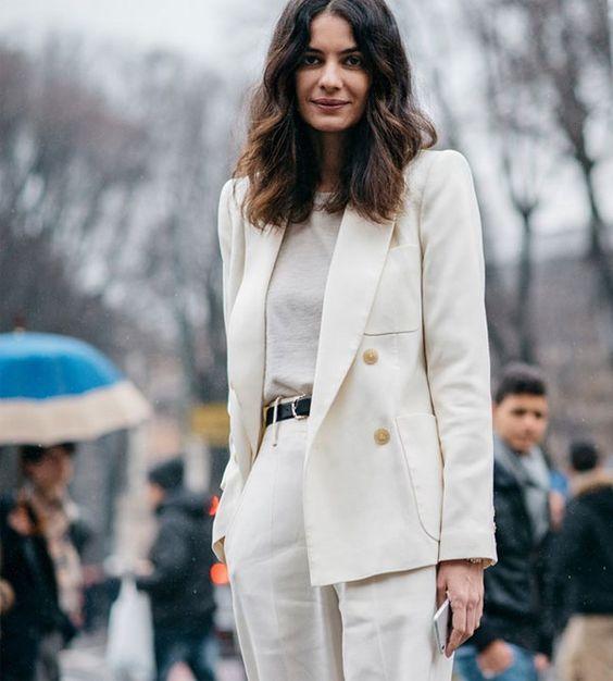 Blazer branco - o melhor amigo de uma mulher chic imagem - via pinterest