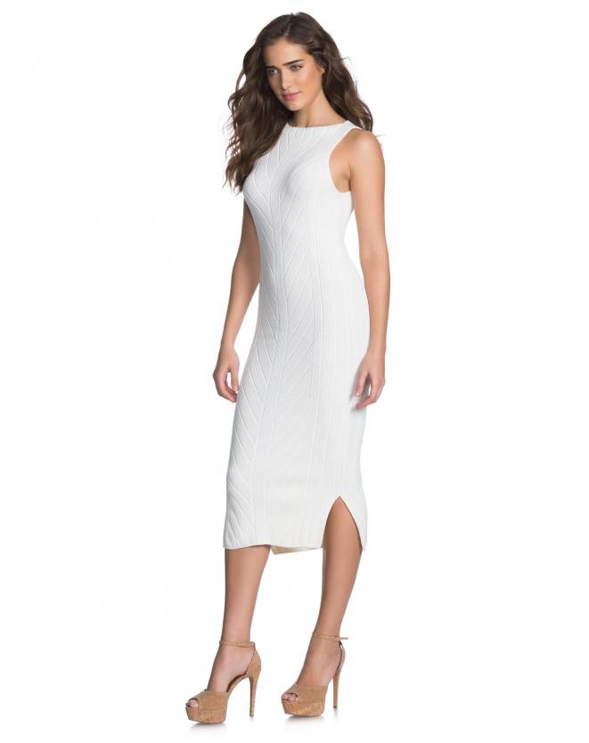 Vestido midi branco - Aqui