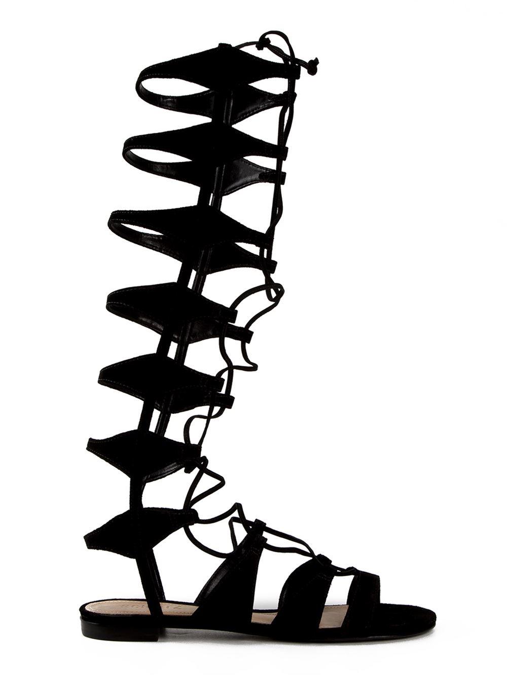 Flat Gladiadora Preta - aqui