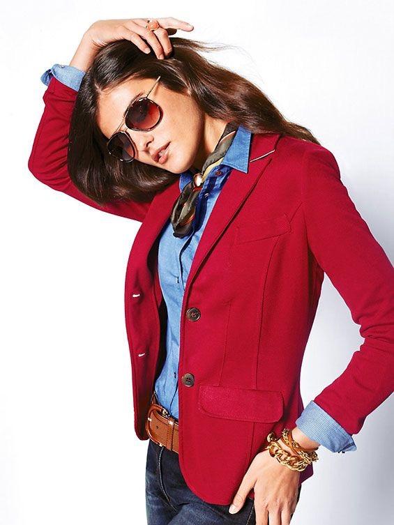 Blazer vermelho imagem: via pinterest