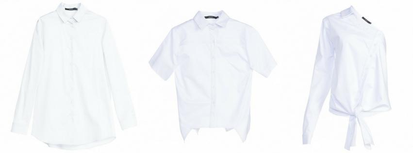 1- Camisa Branca Boyfriend - 5 x $35,98 - AQUI / 2- Camisa Branca assimétrica - 5 x $31,98 - AQUI / 3- Camisa Branca Modern - 5 x $31,65 - AQUI