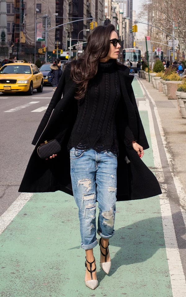 Boyfriend destroyed jeans - paixão! imagem - via pinterest