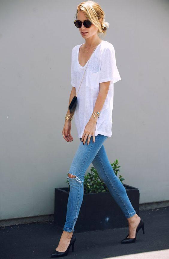 T-shirt branca - obrigatório imagem - via pinterest