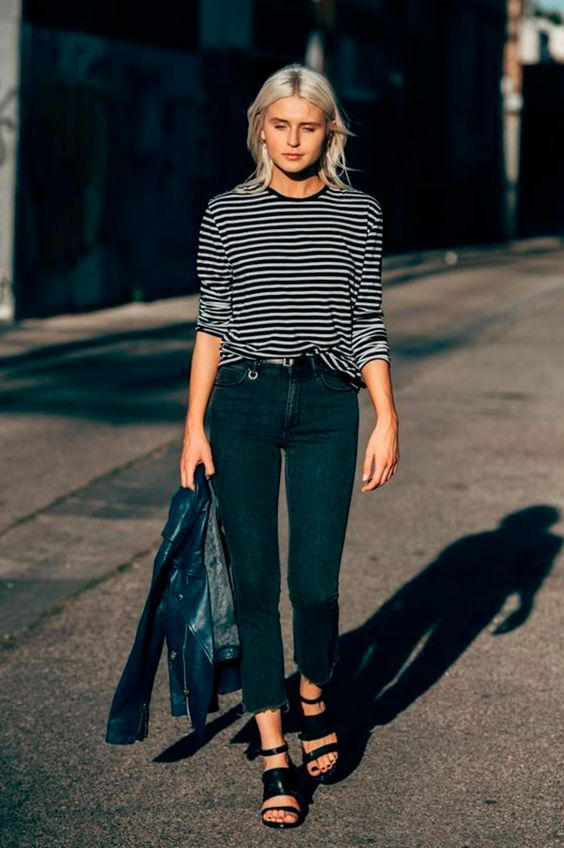 Calça Skinny - já virou clássico no closet das fashionistas imagem - via pinterest