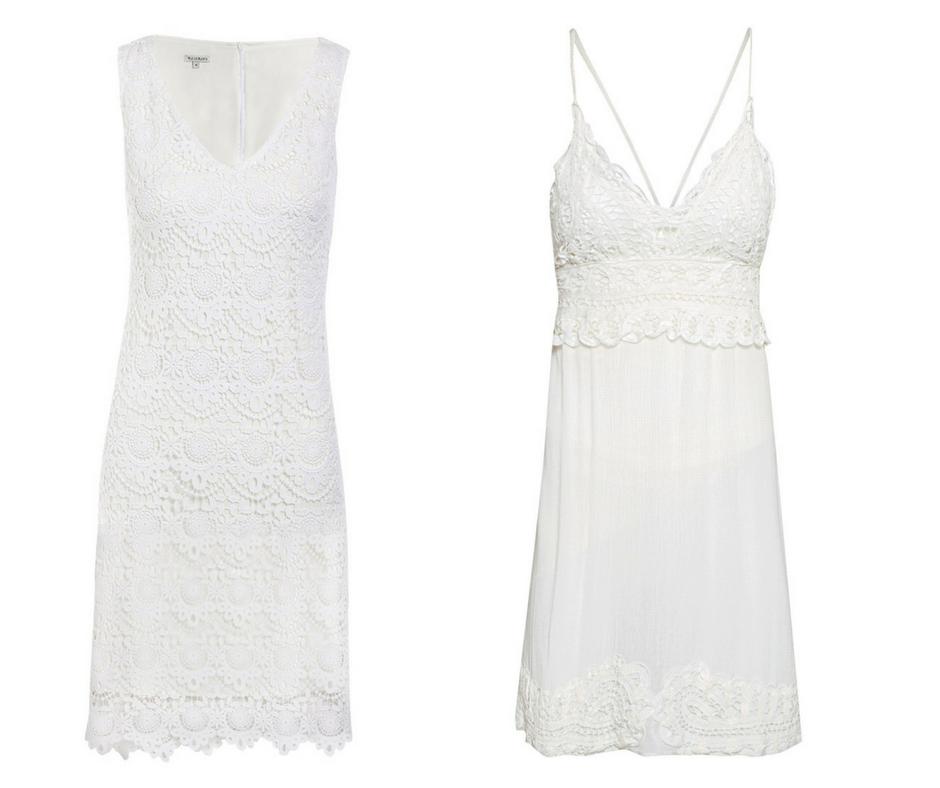 1- Vestido Branco - AQUI 2- Vestido branco alcinhas - AQUI